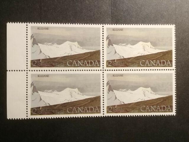 Canada Mint NH stamps Kluane park FV=$8!! plate block - MNH