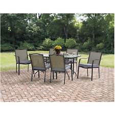 patio dining set outdoor garden furniture yard chairs table cushions 7 piece