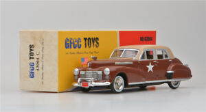 Boy-039-s-Regalo-gfcc-Juguetes-1-43-1941-Cadillac-Fleetwood-de-Aleacion-Coche-Modelo-Marron