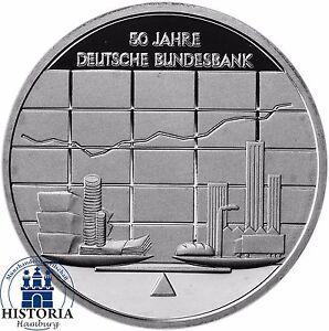 Deutschland 10 Euro Deutsche Bundesbank 2007 Silber Gedenk Münze
