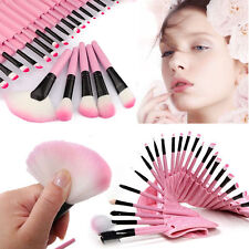 PRO PINK 32X Profession Superior Soft Cosmetic Makeup Brush Set Kit+Pouch Bag