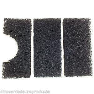 Jebao UBF6000 Gravitation Schwarze Schatulle Filter Schaum Set 3 Teile Schwamm