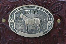 Tony Lama Paint Horse Buckle Burgundy Western Cowhide Leather 2 3 Ring Binder