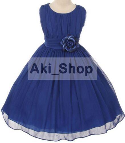 Special Occasion Flower Girl Dress Graduation Easter Wedding Bridesmaid AK05-Ro
