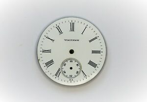 6s Waltham Pocket Watch Porcelain Dial 1011 Pocket Watches