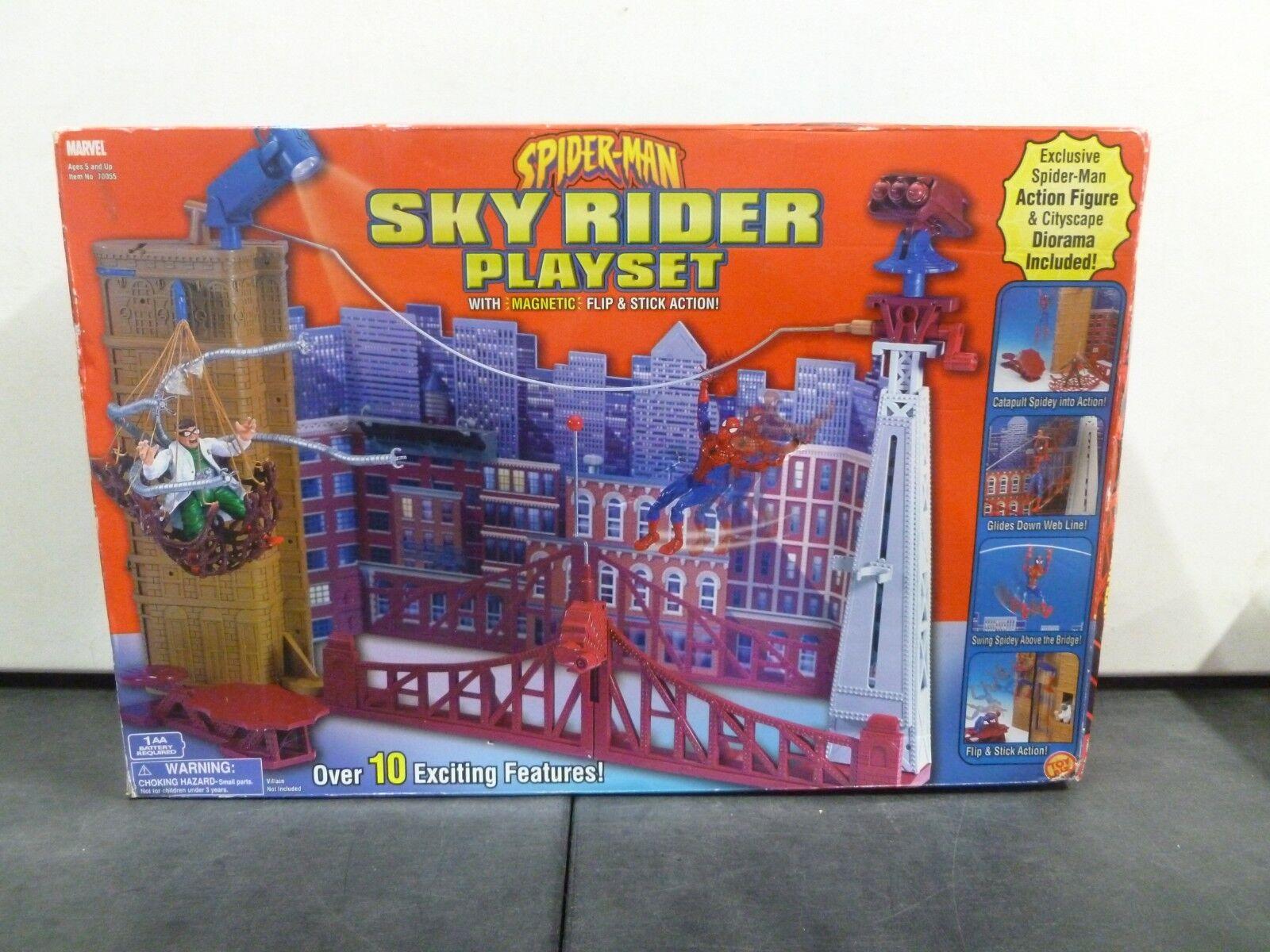 2002 Toy Biz Spiderman Sky Rider Playset