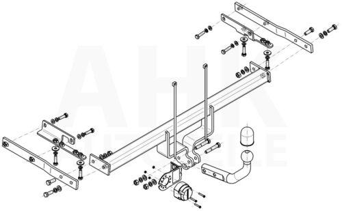 Anhängerkupplung starr ABE Für Nissan Tiida C11 5-Tür
