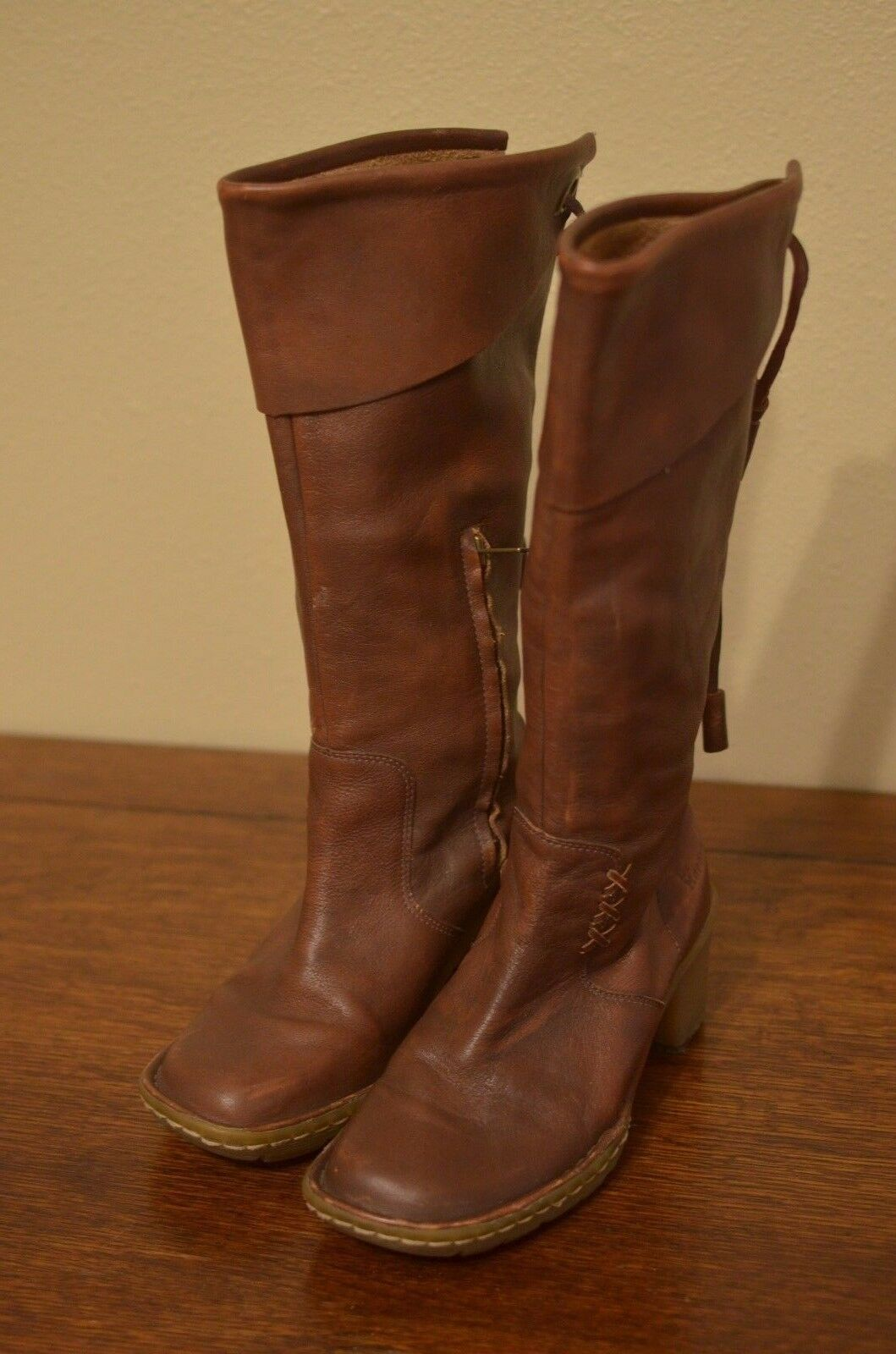 Dr.Martens Brown Leather Boots Mid Calf Size 6