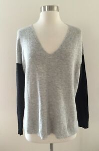 36c559843e New MADEWELL warmlight v-neck pullover sweater in colorblock Gray ...