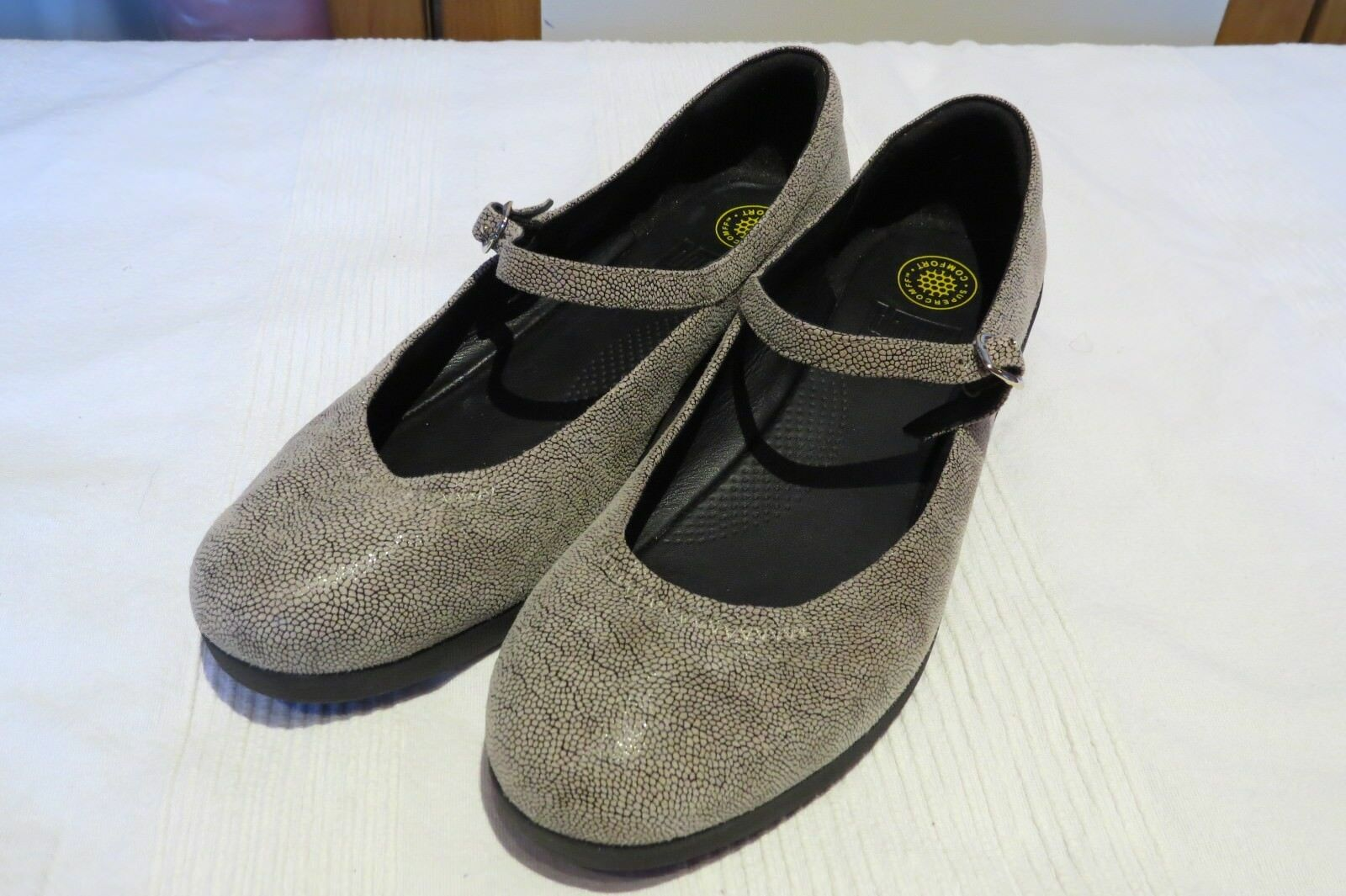 FitFlop™ F-POP STONE PEBBLEPRINT 6.5 MARY JANE Schuhe UK 6.5 PEBBLEPRINT EUR 40 USA 8.5 a79674