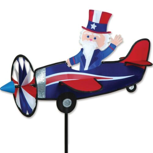 Uncle Sam Pilot Pal Staked Airplane Staked Wind Spinner ..16... PR 26809