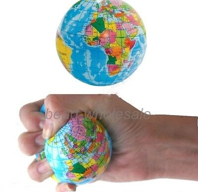 "3""Colored World Map Sponge Ball Stress Relief Toy Baby Children Pre-School Toys"