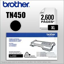 Brother Genuine High-yield Toner Cartridge TN450 Replacement Black Toner..