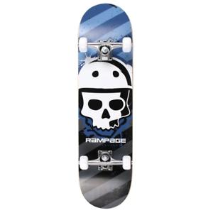 "Rampage crétine 8/"" Complete Skateboard-Bleu"