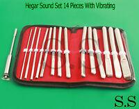 Hegar Flat Ended Urethral Sound Set 14 Pieces With Vibrating Urethral Sound