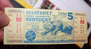 University of Kentucky vs Vanderbilt 1966 NCAA College ...