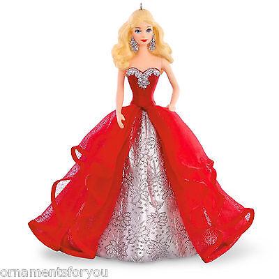 Hallmark 2015 Holiday Barbie Series Christmas Tree Ornament