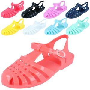 6d23de870399 Ladies F0711 90 s retro jelly buckle sandals By Spot On £5.99