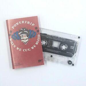 POWERTRIP When We Cut We Bleed Hardcore Thrash Punk Cassette Tape Rare