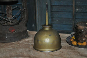 Large-Vintage-Brass-Oil-Can-Country-Primitive-Decor-Collectable