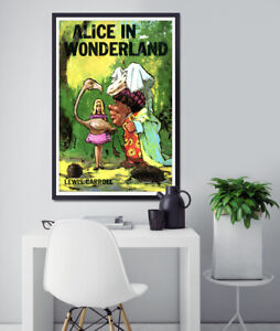 Alice in Wonderland 1966 Book Cover POSTER! (up to 24 x 36) - Vintage - Reading
