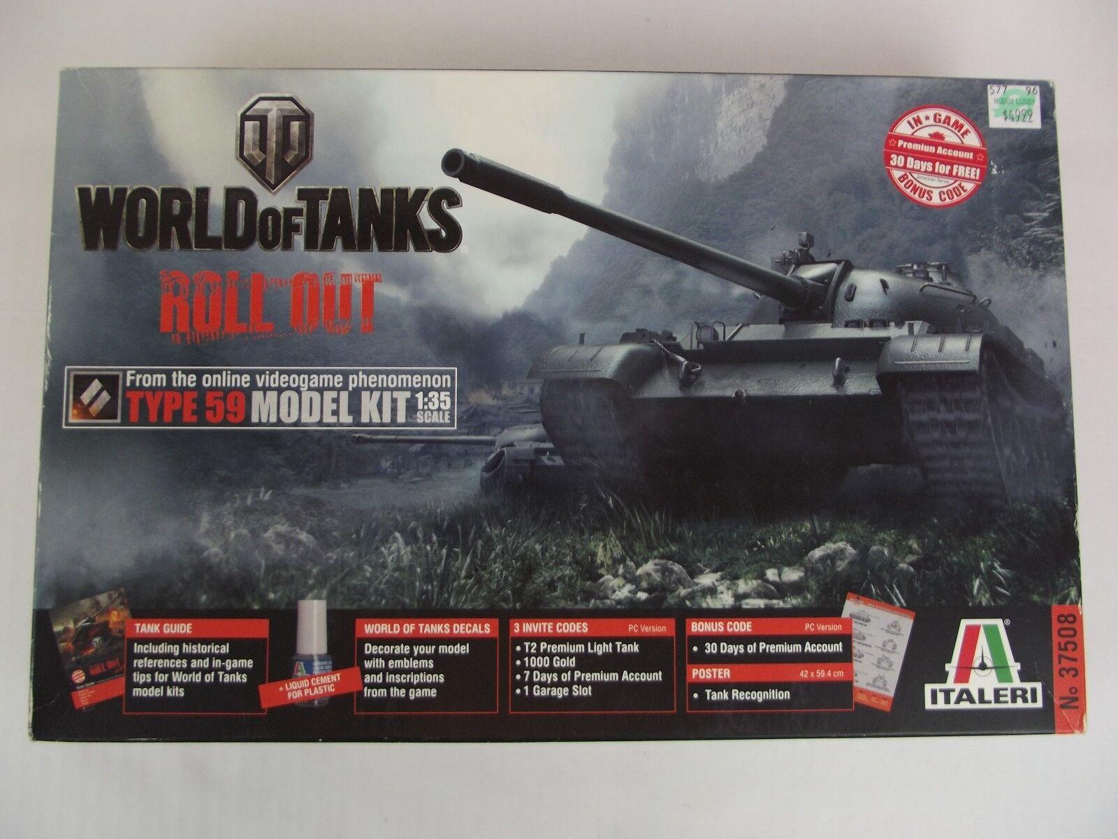ITALERI World of Tanks Roll Out Type 59 Model Kit Tank