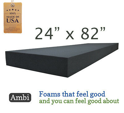 """24""""x82"""" Upholstery Premium Rubber Foam Replacement Sheet Seat Cushion"""