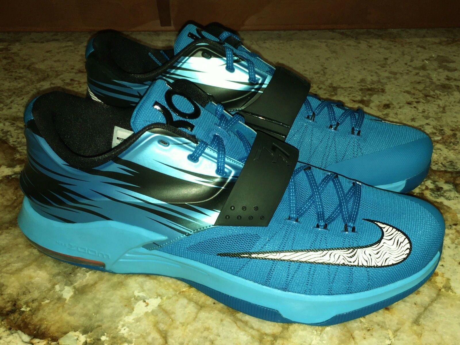 NIKE KD VII 7 Clearwater Blue Black Basketball Shoes Sneakers NEW Mens Sz 17 18 best-selling model of the brand