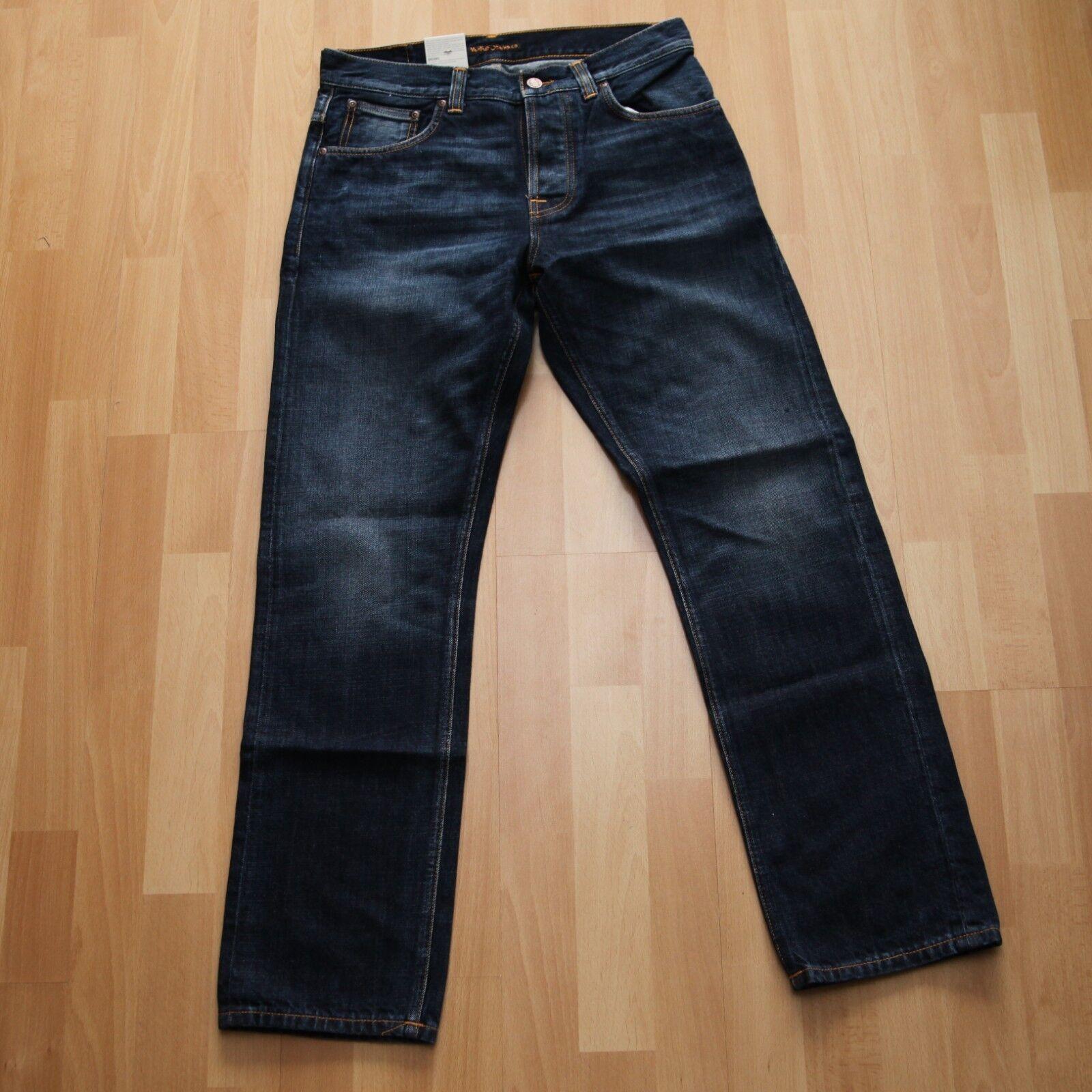 NEU Nudie Jeans SLEEPY SIXTEN (Relaxed straight fit) Authentic Dark 30 30