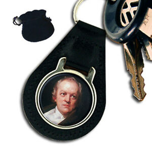 WILLIAM BLAKE ENGLISH POET amp ARTIST LEATHER KEYRING  KEYFOB - Plymouth, United Kingdom - WILLIAM BLAKE ENGLISH POET amp ARTIST LEATHER KEYRING  KEYFOB - Plymouth, United Kingdom