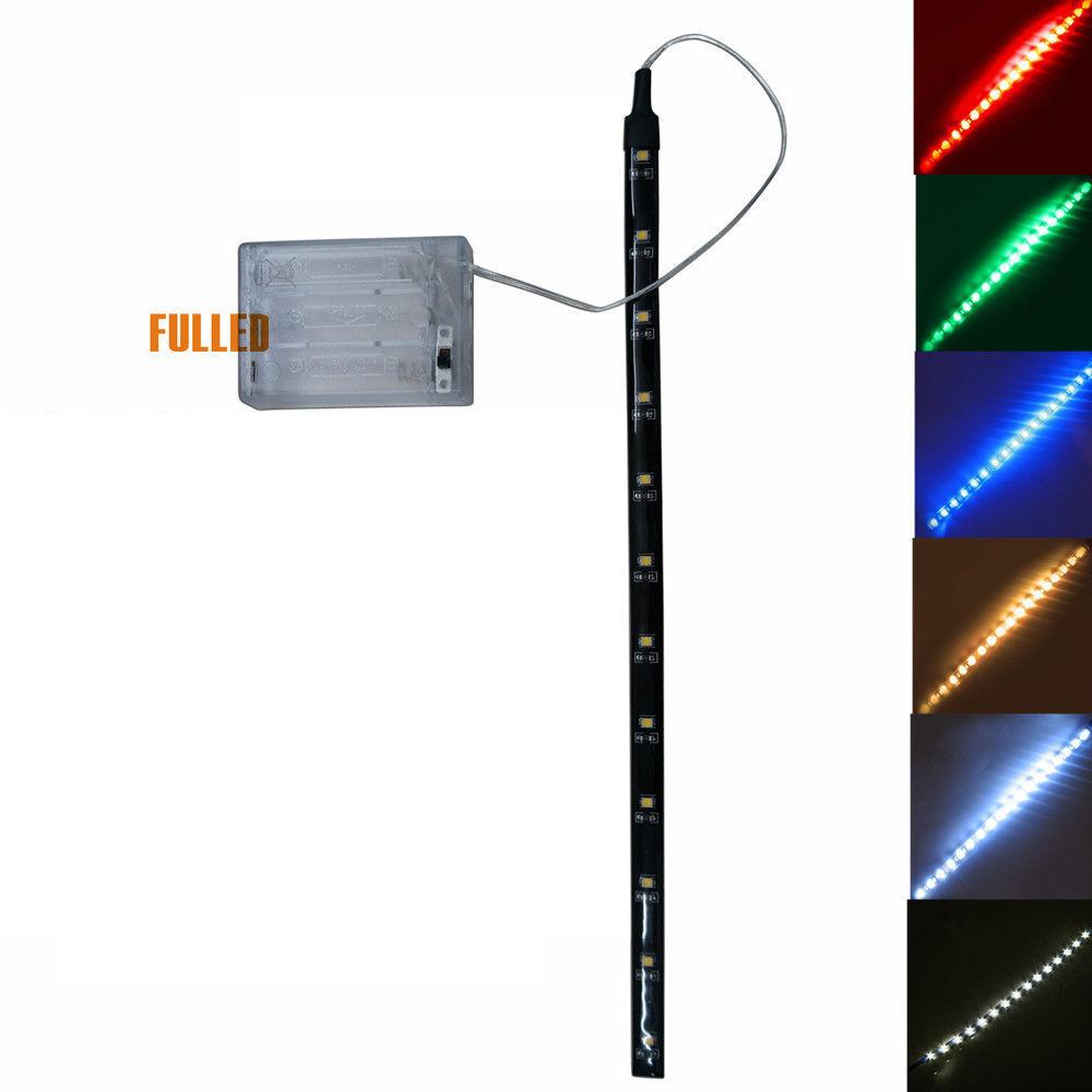 LED Leiste Streifen Band licht 30CM Batterie box Schalter Batteriebetrieben 4.5V