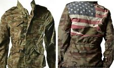 Last One! Ralph Lauren Denim & Supply Men's Camo Army USA Flag Hooded Jacket Sm