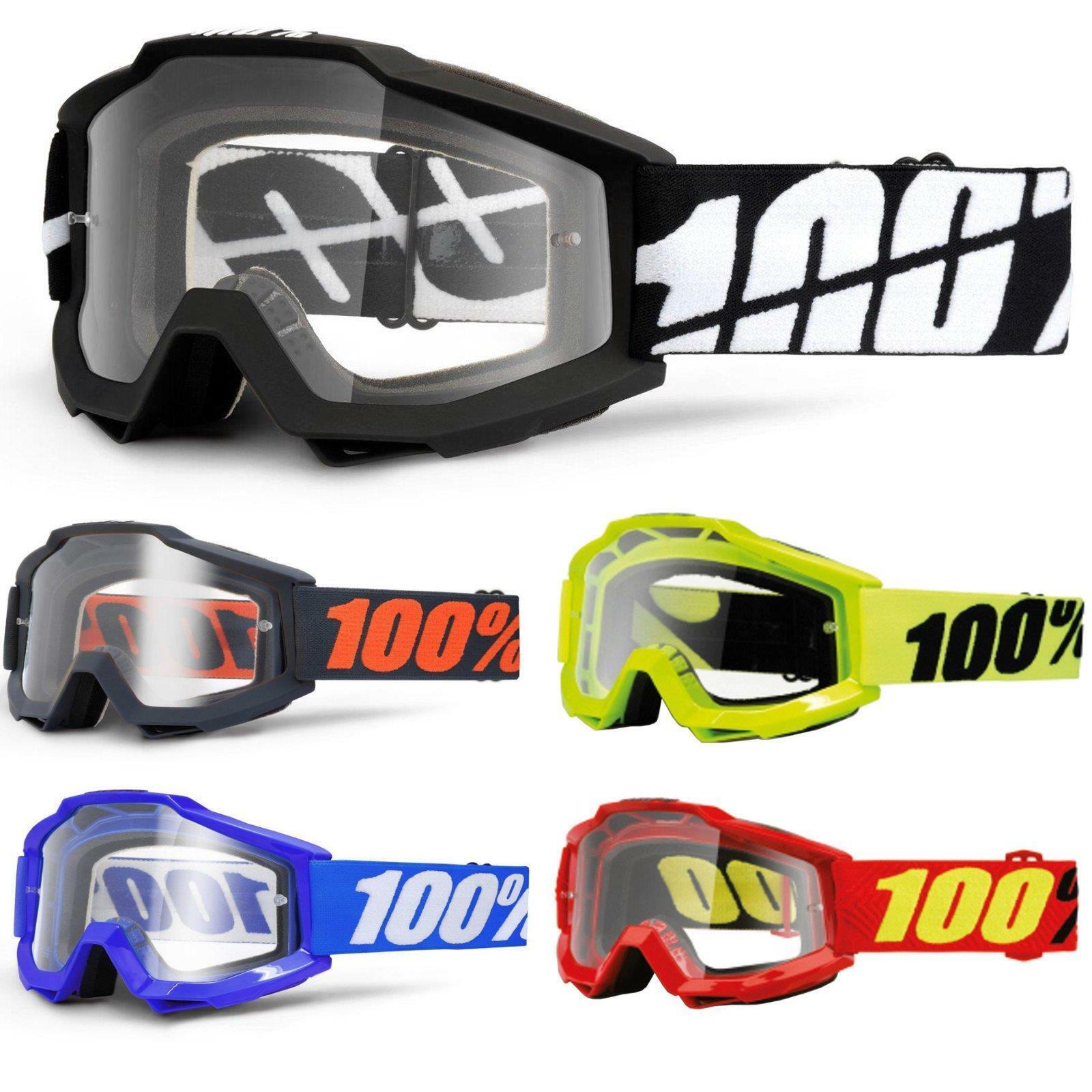 100% por ciento accuri OTG Goggle gafas claramente DH MTB MX downhill para gafas