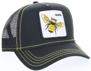 New Goorin Bros. Animal Farm Trucker Snapback Hat Cap Black Queen ... 5f99de99bdf