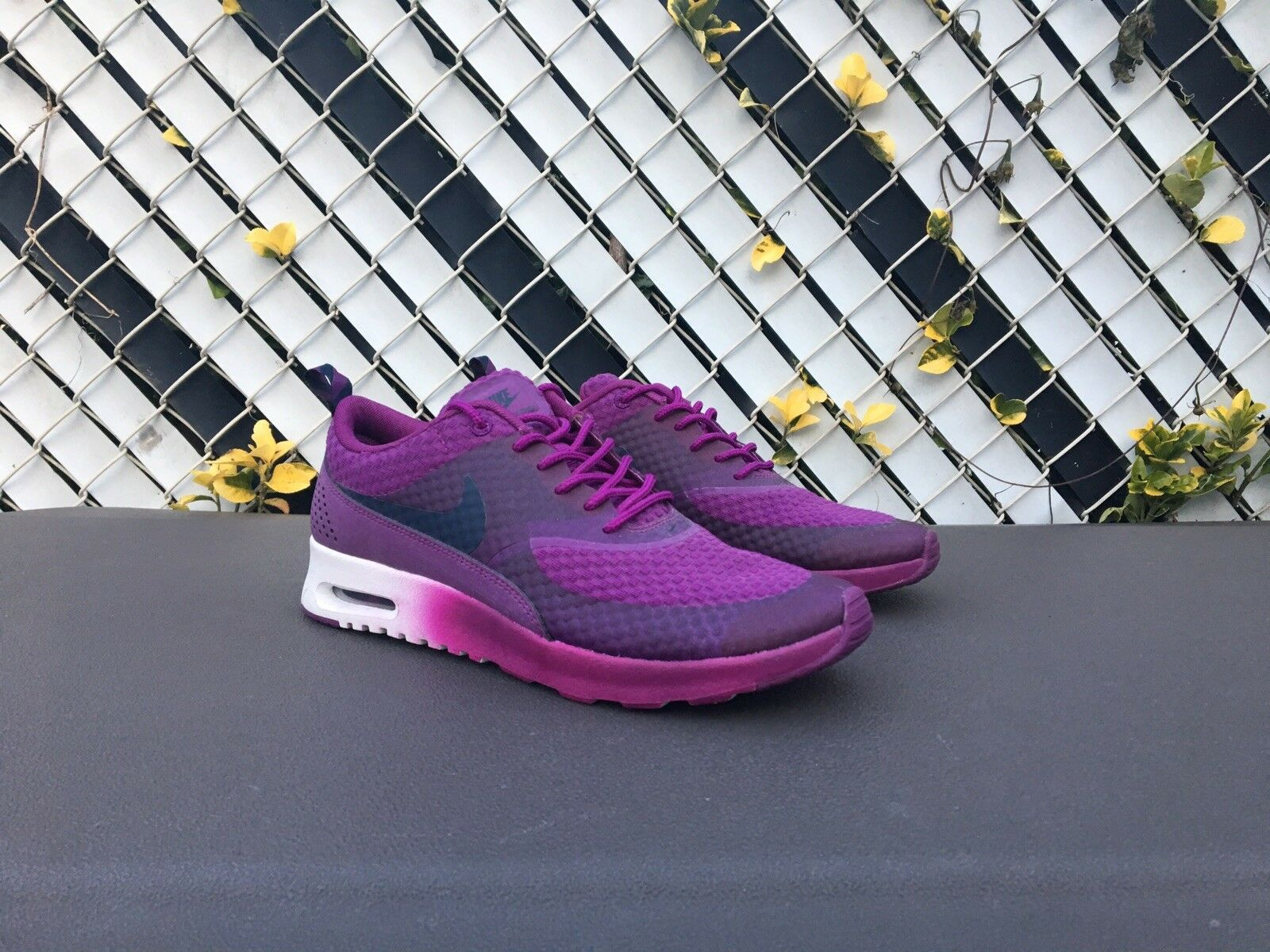 Nike Air Max Thea Premium Reflective Womens 8 Grape Purple PRM 616723 500 Zoom