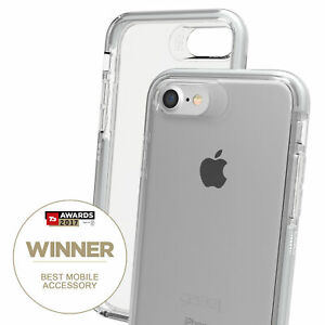 Gear4-for-iPhone-7-8-Clear-Case-Piccadilly-Impact-Protection-D3O-Silver