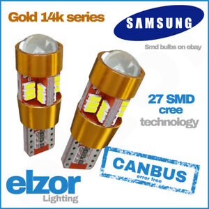 Vw-Super-Bright-14k-Gold-Samsung-501-Led-Smd-Side-Bulbs-Error-Free-Strong-Canbus