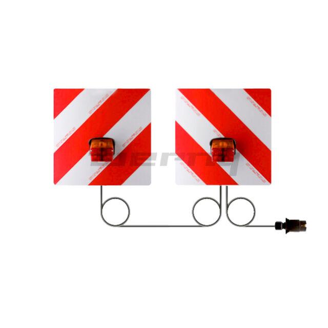 Sanube Warntafelsatz mit Beleuchtung DIN 11030 mit Kabel 7-pol Stecker