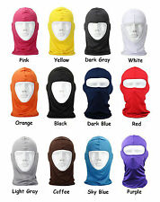 black  Motorcycle Full Face Mask Lycra Balaclava Ski Sun UV Neck Protection