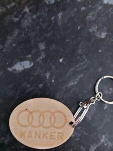 Audi Wanker Wooden Keychain