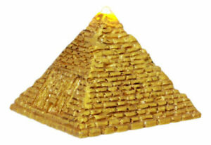 """Ebros Small Golden Egyptian Giza Golden Pyramid Figurine with LED Light 3.25""""L"""