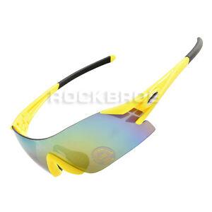 ROCKBROS-Cycling-Sunglasses-Bike-Bicycle-Sports-Glasses-Goggles-Yellow-Black