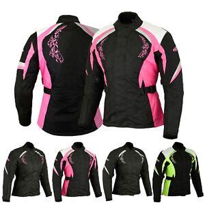 Women-Motorbike-Ladies-Cordura-Jacket-Waterproof-Motocycle-Clothing-Coat-Armours