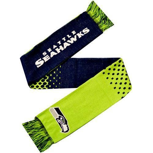 NFL Seattle Seahawks Official Fade Football Crest Supporters Scarf
