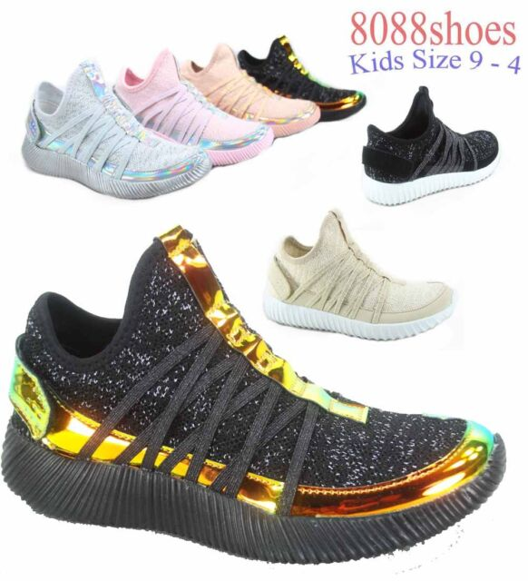 Youth Girl/'s Kid/'s Light Weight Flat Sneakers Casual Sport Shoes Size 9-4 NEW