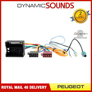 CT20PE03 Wiring Loom Harness ISO Lead For Peugeot 207 2006 Onwards