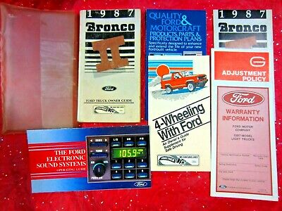 1987 Ford Bronco II Owners Manual,Guide Booklets,Plastic ...