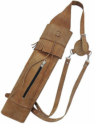 NEW TRADITIONAL MILD BLACK BACK SIDE ARROW QUIVER WITH FRONT SIDE POCKET AQ121