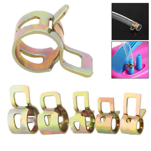 50Pcs 5//6//7//8//9mm Spring Clip Fuel Line Hose Water Pipe Air Tube Clamps Fastener