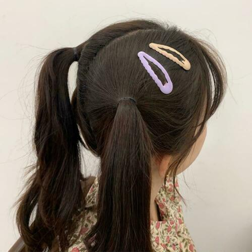 Glitter Glossy Candy Color Haarspange Snap Haarnadeln Clip Girl Hair N7T2